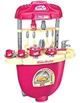 Berry Toys Carry Along Plastic Play Kitchen, Pink