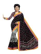 Black Color Art Bhagalpur Silk Saree with Blouse 11303