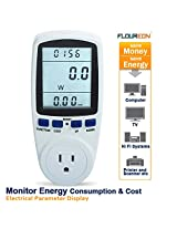 Floureon? TS-836A Plug Power Meter Energy Watt Voltage Amps Meter with Electricity Usage Monitor, Reduce Your Energy Costs