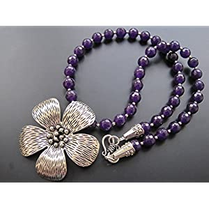 Dreamz Jewels Purple Agate Necklace