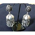 Oxidised Silver Fashion Jhumki Earring