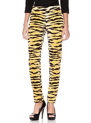 D&G Pantalón Estampado (Amarillo / Negro)