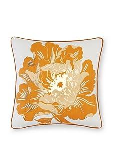 "Antonio Aguilar Grecian Peony Pillow, Orange, 20"" x 20"""