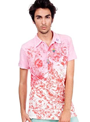 Custo Poloshirt (Rot/Rosa)