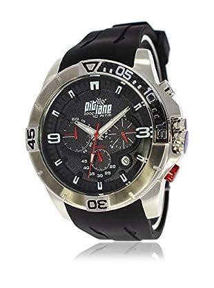 Pit Lane Uhr mit Miyota Uhrwerk Pl-1009-1 schwarz 50 mm
