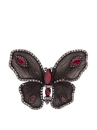 Lola Casademunt Broche Butterfly (Rojo)