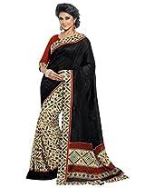 BLackMulti Color Art Bhagalpur Silk Saree with Blouse 11307