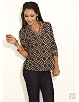 Geo Print Cotton Top-Multi Colour -Xs