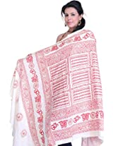 Exotic India Womens Poly Cotton Shawls ,Red ,Free Size