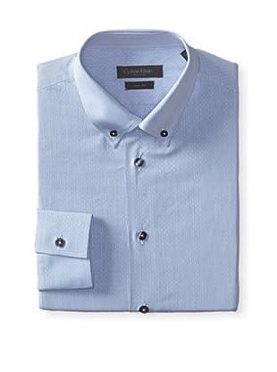 Calvin Klein Collection Men's Maya Slim Fit Dress Shirt (Telegrey)