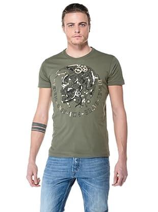 Diesel Camisa Toll (Verde Militar)