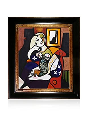 Pablo Picasso Woman with Book Framed Oil Painting, 20 x 24
