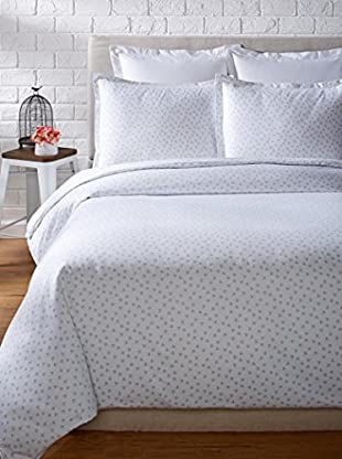 Mélange Home 400 Thread Count 100% Cotton Chic Floral Classic Hemstitch Duvet Set