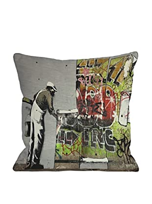 Banksy Graffiti Wallpaper Pillow