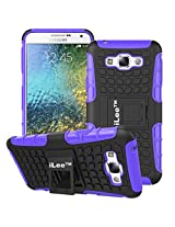 iLee Premium Kickstand Hybrid Back Cover for Samsung Galaxy E7- Color: Purple (12 Months Warranty)
