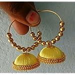 Silk thread hoop jhumka by Sayee Creation