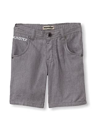 Munster Kid's Brace Yourself Chambray Shorts (Grey)