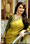 Bollywood designer party wear madhuri dixit lemon saree