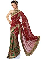 Sari with Rare Magnificence - Pure Chiffon - Designer Suman Kumar