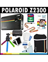 Polaroid Z2300 10MP Digital Instant Print Camera (Black) with 8GB Card + Pouch + Tripod + Zink Paper (30 Pack ) + Straps + Accessory Kit