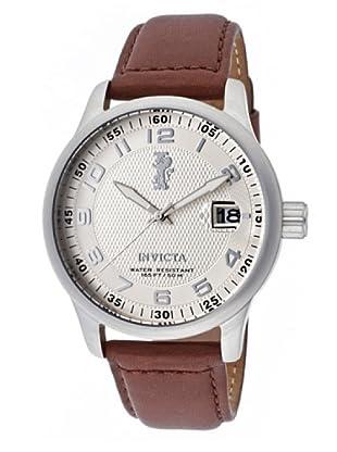 Invicta 12825 - Reloj de Caballero cuarzo piel Marrón