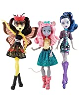 Monster High Boo York Boo York Character Doll Bundle, Includes Luna Mothews, Daughter Of The Moth Man; Mouscedes King, Daughter Of The Rat King; And Elle Eedee, Daughter Of The Robots