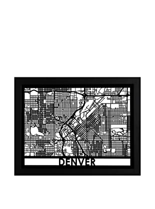 Cut Maps Denver Framed 3-D Street Map