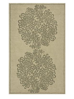 Momeni Veranda Collection Two-Tone Rug (Sage)