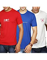Duke Men Value Pack Of 3 Crew Neck T-Shirts,Large