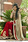 Bollywood Replica Model Nylon and Satin Beige and Maroon Chiffon Saree