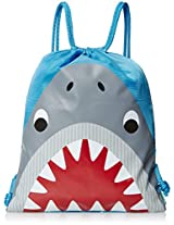 Stephen Joseph Boys' Drawstring Bag, Shark, 12x15.5