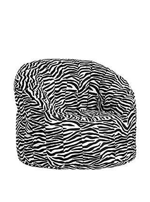 13casa Sessel Zebra A2 weiß/schwarz