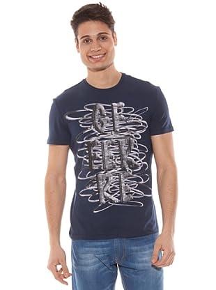 Gianfranco Ferré Camiseta Slim Estampado (Azul)