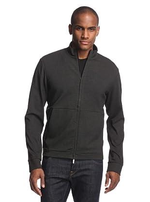 Calvin Klein Collection Men's Tech Zip Up Sweater (Gotham)