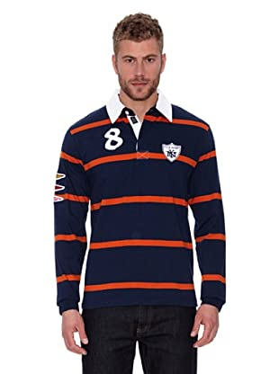 CLK Polo Long Sleeves (Marino / Naranja)
