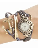 Black Vintage Time is What You Make of It Inspirational Bracelet Watch