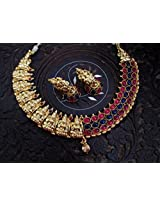 One Gram Gold Plated Traditional Lakshmi Nagas Jewellery Buy Online At LittleFingers