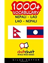 1000+ Nepali-lao Lao-nepali Vocabulary