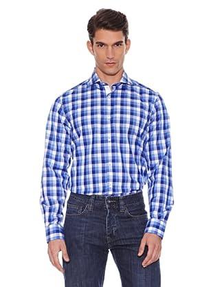 Hackett Camisa Cuadros Clásica (Azul)
