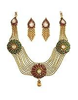 Evergreen Gold plated kundan set