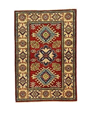 L'EDEN DEL TAPPETO Alfombra Uzebekistan Super Rojo/Multicolor 81 x 120 cm