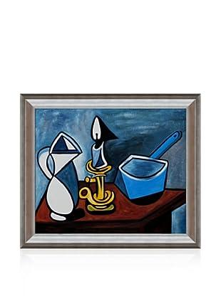Pablo Picasso Enamel Saucepan Framed Oil Painting, 20 x 24