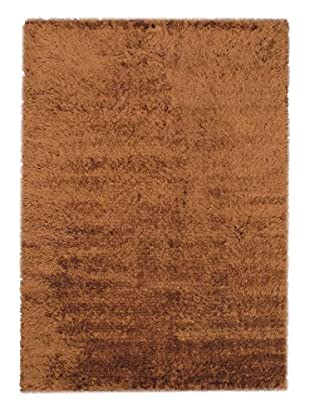 Hand-Knotted Casablanca Retro Shag, Brown, 5' 7