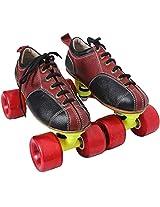 Dixon Skt-Shubrbl01 Men Leather Skating Shoes Standard Red & Black