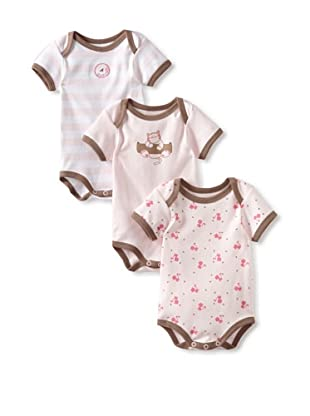 Coccoli Baby Bodysuit (Pack of 3) (Pink Set)