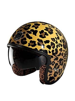 Exklusiv Helmets Casco Racer Leopard (Naranja / Amarillo)