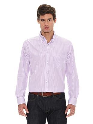 Turrau Camisa Raya Ancha / Fina Bicolor (Lila)