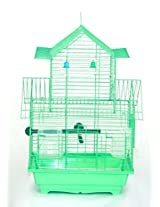 Pet Club51 HIGH QUALITY PET BIRD CAGE FINCH DOUBLE FLOOR CAGES -GREEN