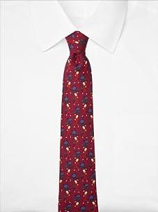 Hermès Men's Man with Flowers Tie, Burgundy, One Size