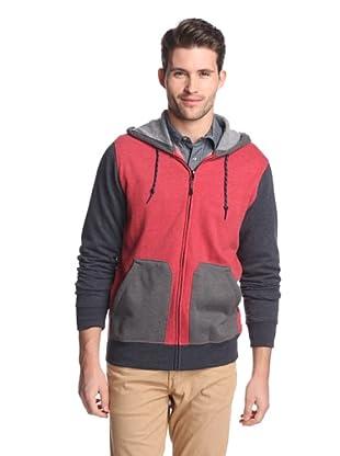 Union Jeans Men's Alpine Color Block Hoodie (Tomato)